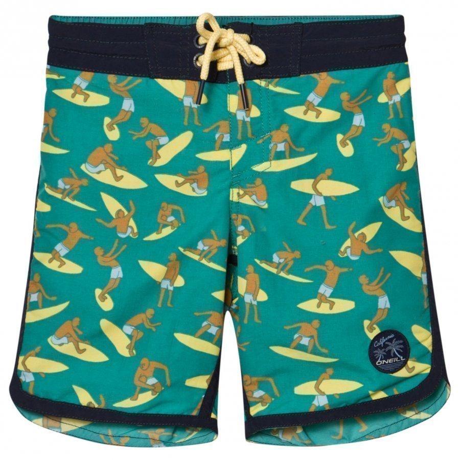 Oneill Green Surf Patch Boardshorts Uimashortsit
