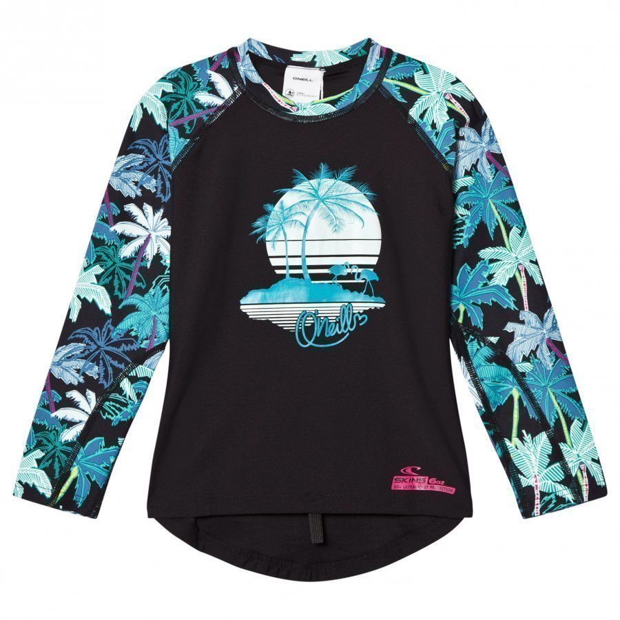 Oneill Pink Horizon Palm Rash Vest Uv-Paita