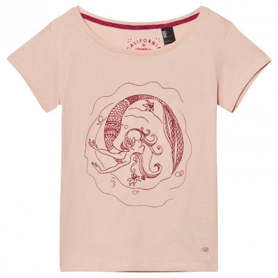 Oneill Pink Mermaid Bay Graphic Tee T-Paita