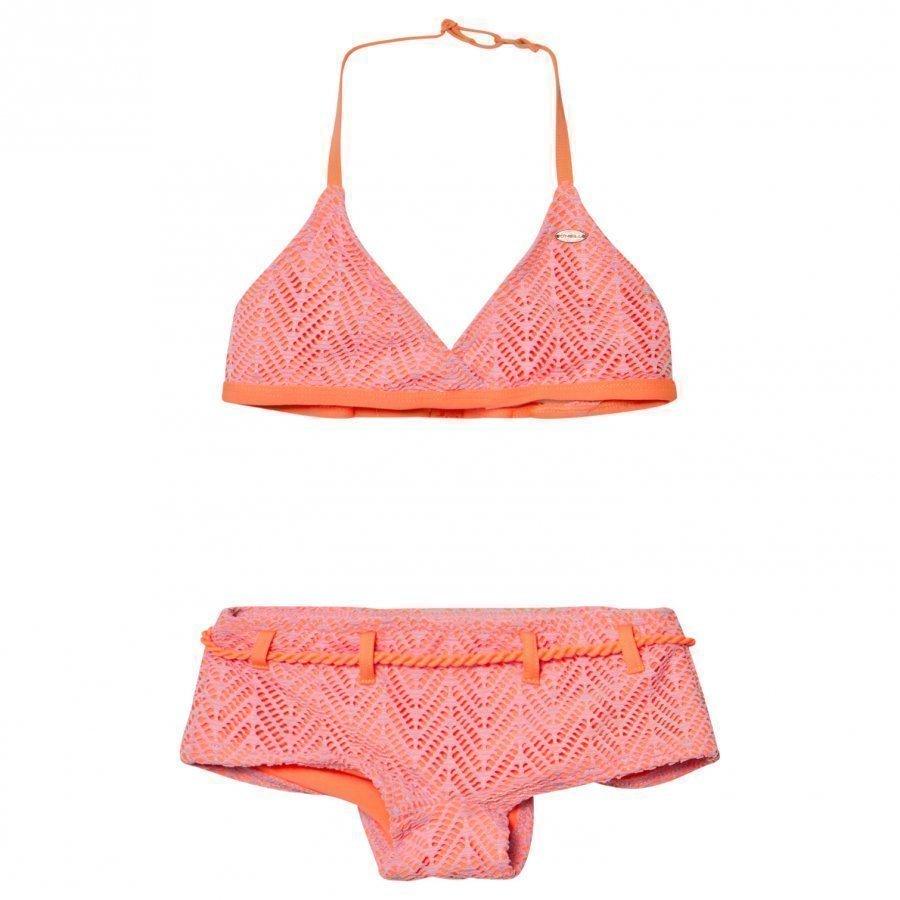 Oneill Pink Structure Halter Bikini Bikinit