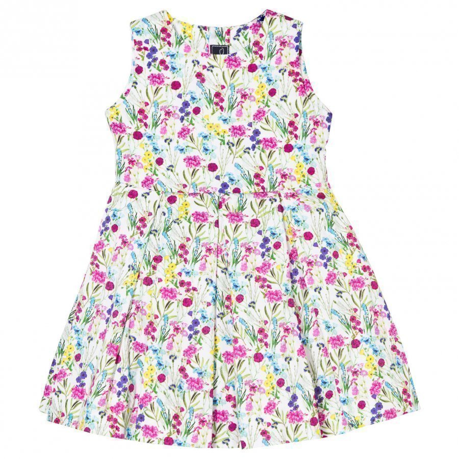 Oscar De La Renta Botanical Flora Cotton Party Dress Juhlamekko