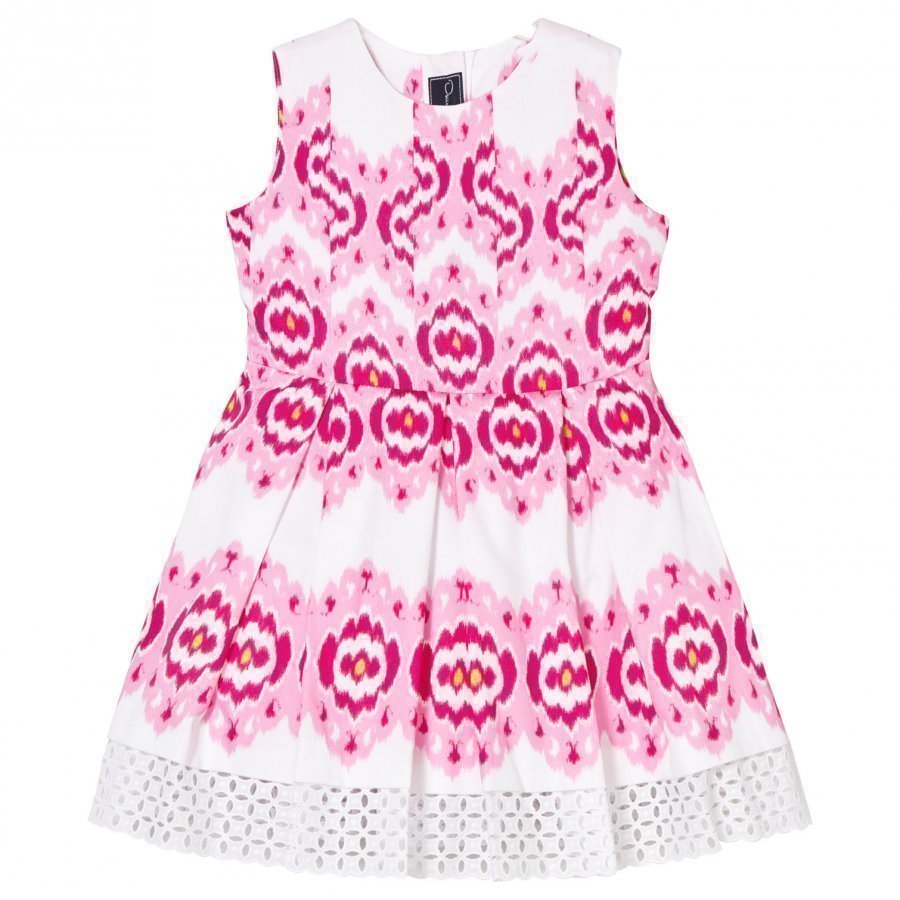Oscar De La Renta Pink Ikat Cotton Party Dress Juhlamekko
