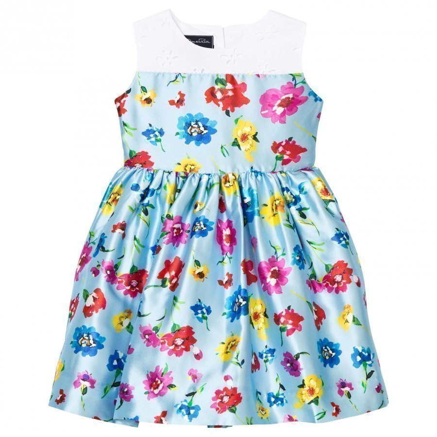 Oscar De La Renta Scattered Flower Mikado Party Dress Juhlamekko