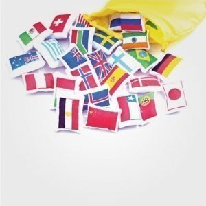 Oskar & Ellen Flags For The Worldmap Juliste