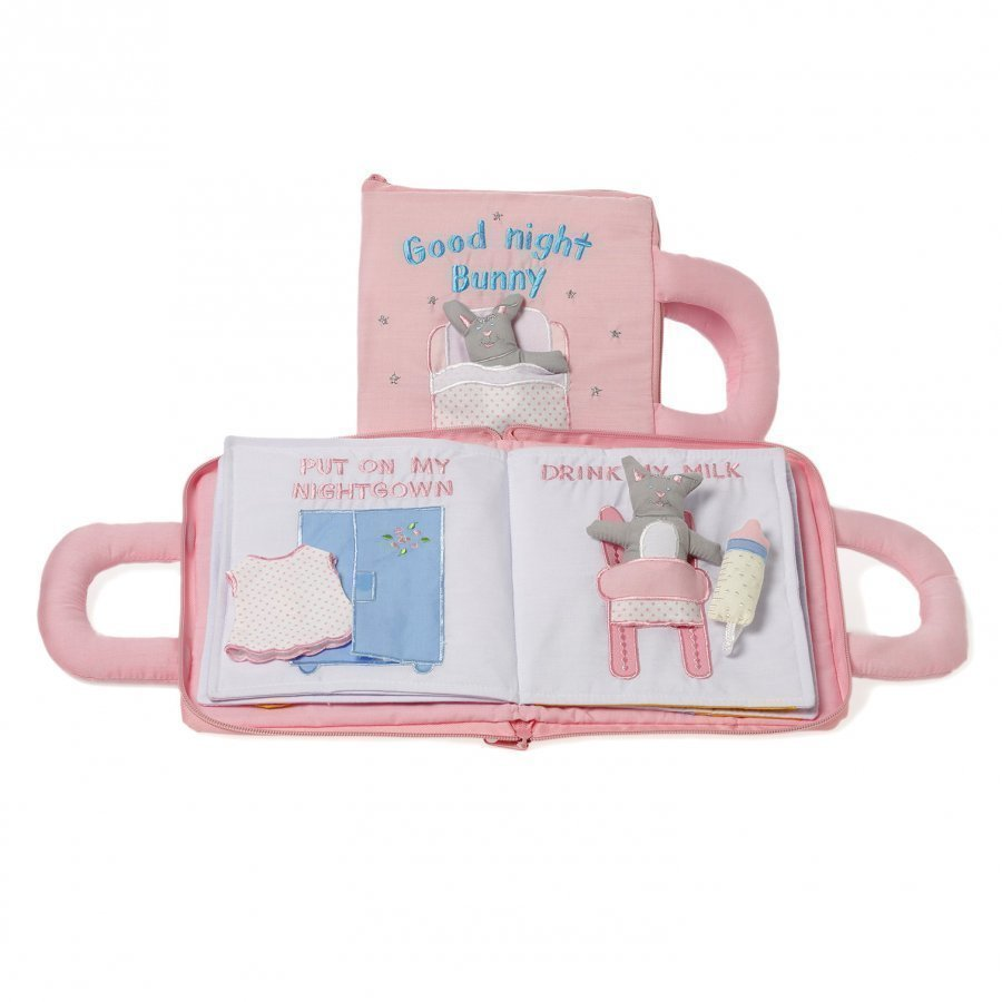 Oskar & Ellen Good Night Book Pink Swedish Ensikirja