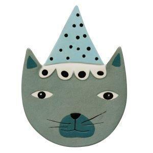 Oyoy Buster Cat Keraaminen Taulu 20x27 Cm