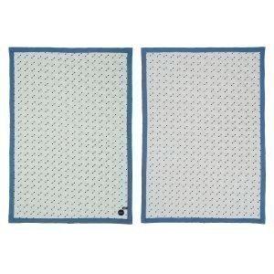 Oyoy Quilted Huopa Pale Mint / Harmaa / Sininen 70x100 Cm
