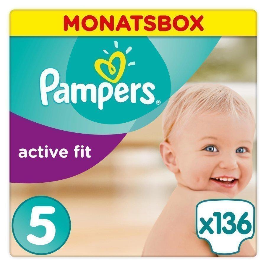 Pampers Active Fit Koko 5 11 25 Kg Kuukausipakkaus 136 Kpl