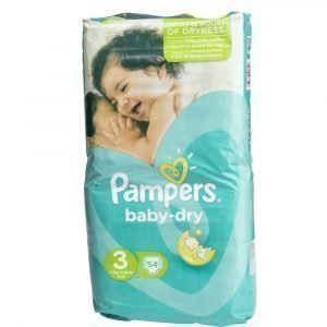 Pampers Baby-Dry 3 4-9 Kg Teippivaippa 54 Kpl