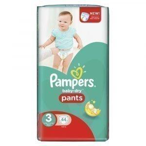 Pampers Baby-Dry 3 6-11 Kg Housuvaippa 44 Kpl