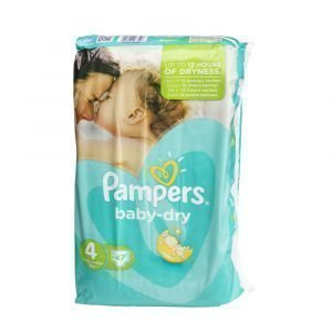 Pampers Baby-Dry 4 7-18 Kg Teippivaippa 47 Kpl