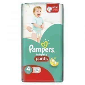 Pampers Baby-Dry 4 8-15 Kg Housuvaippa 40 Kpl