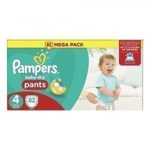 Pampers Baby-Dry 4 8-15 Kg Housuvaippa Megapakkaus 82 Kpl