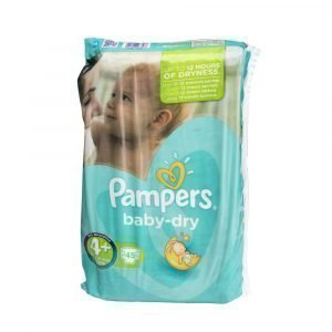 Pampers Baby-Dry 4+ 9-20 Kg Teippivaippa 45 Kpl