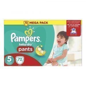 Pampers Baby-Dry 5 12-18 Kg Housuvaippa Megapakkaus 72 Kpl