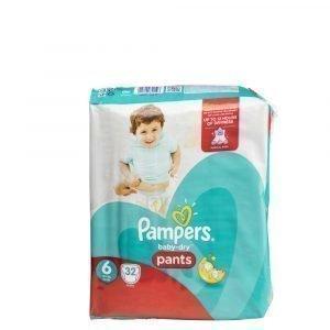 Pampers Baby-Dry 6 16+ Kg Housuvaippa 32 Kpl