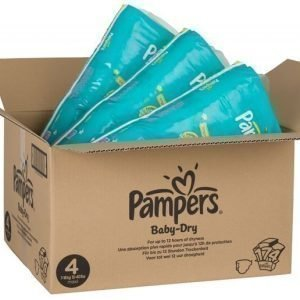 Pampers Baby Dry Koko 4+ Kuukausipakkaus 152 vaippaa