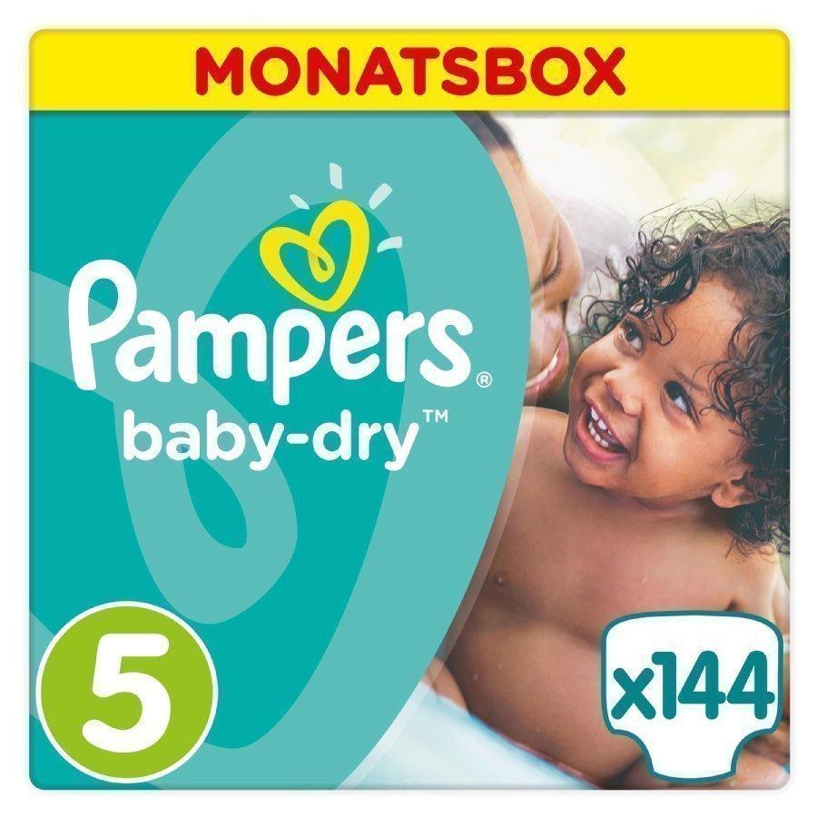 Pampers Baby Dry Koko 5 11 25 Kg Kuukausipakkaus 144 Kpl