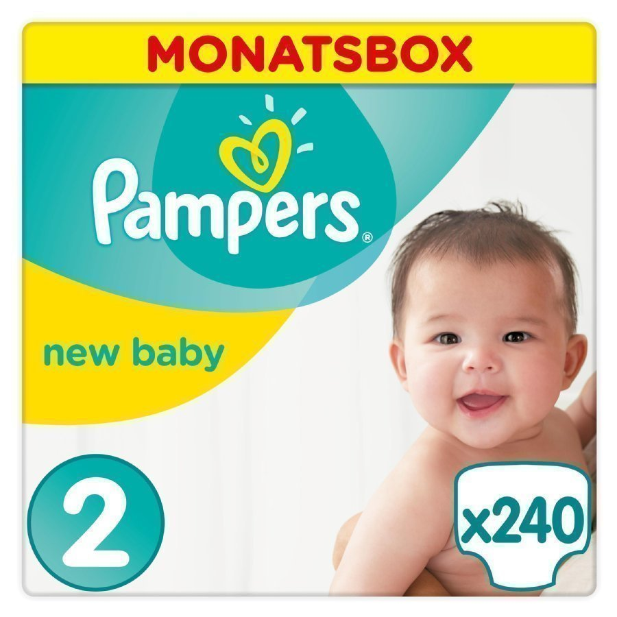 Pampers New Baby Koko 2 3 6 Kg Kuukausipakkaus 240 Kpl