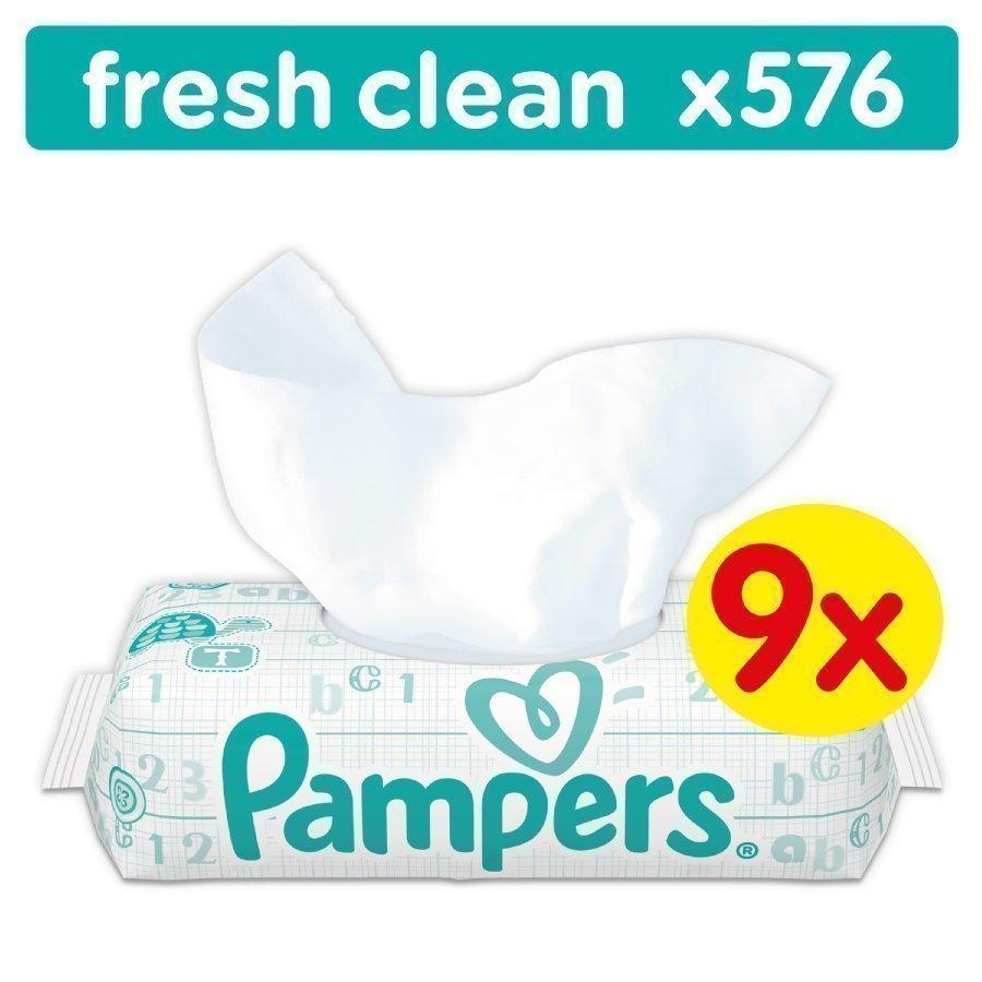Pampers Puhdistuspyyhkeet Babyfresh Clean Jättipakkaus 9 X 64 Kpl