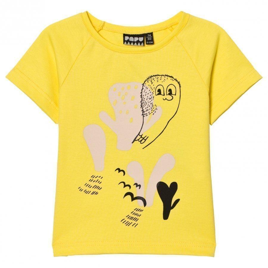 Papu Curious Print Tee Yellow T-Paita