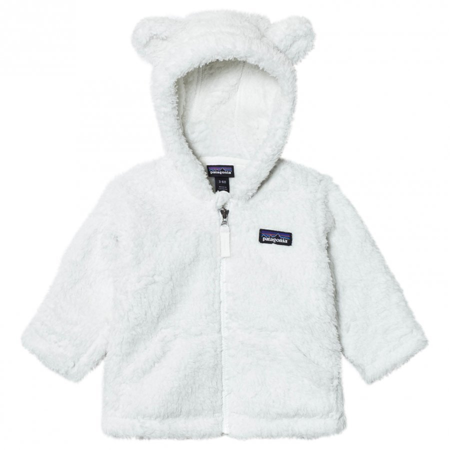 Patagonia Baby Furry Friends Hoodie Sweater Birch White Fleece Huppari