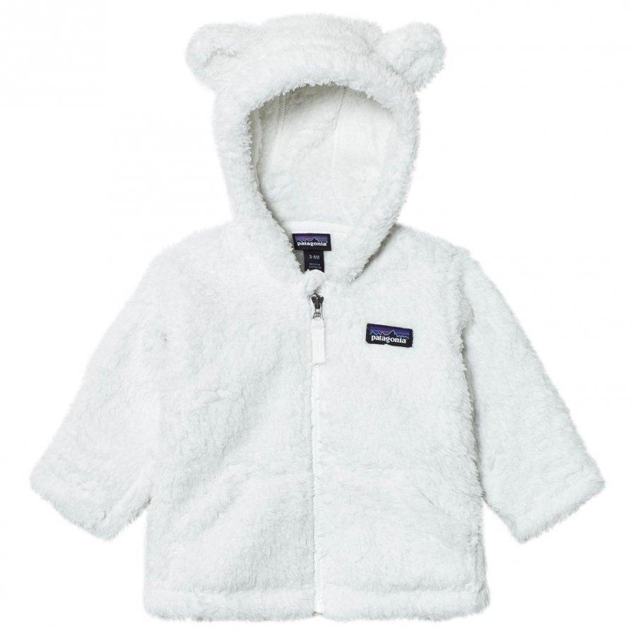 Patagonia Baby Furry Friends Hoodie Sweater Birch White Fleece Huppari