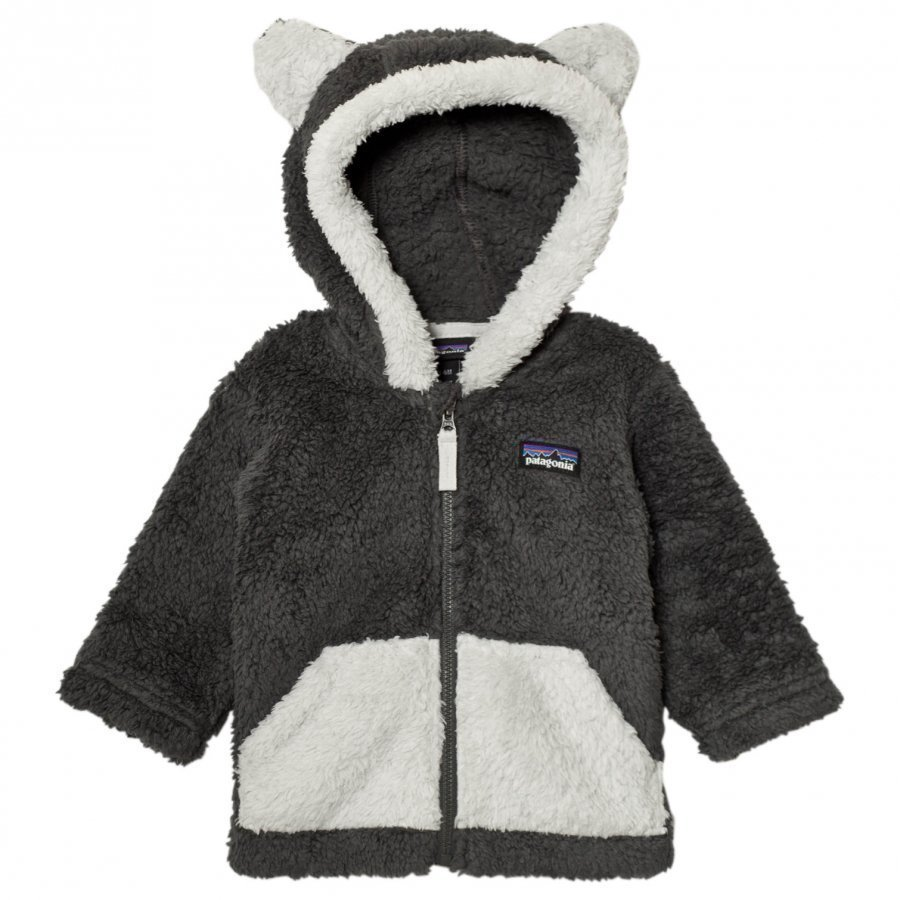 Patagonia Baby Furry Friends Hoodie Sweater Forge Grey Fleece Huppari
