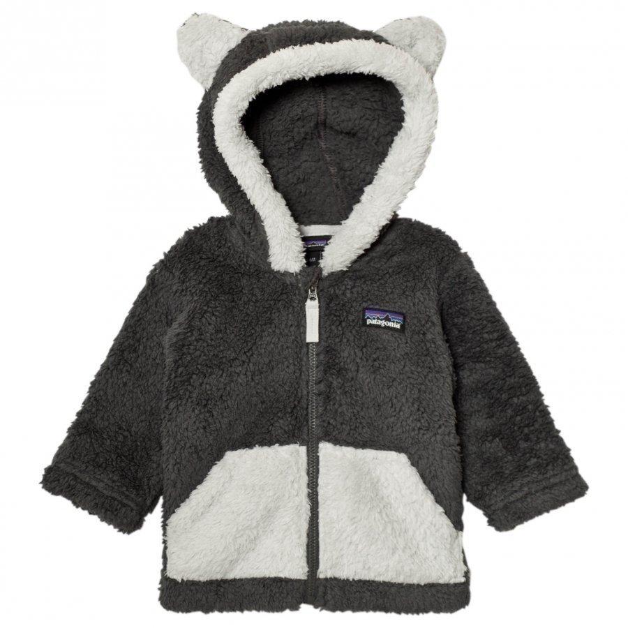 Patagonia Baby Furry Friends Hoodie Sweater Forge Grey Fleece Huppari