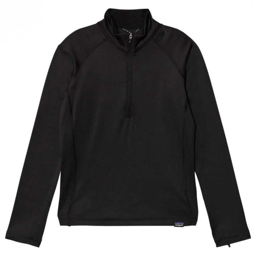 Patagonia Cap Heavyweight Zip Neck Black Fleece Paita