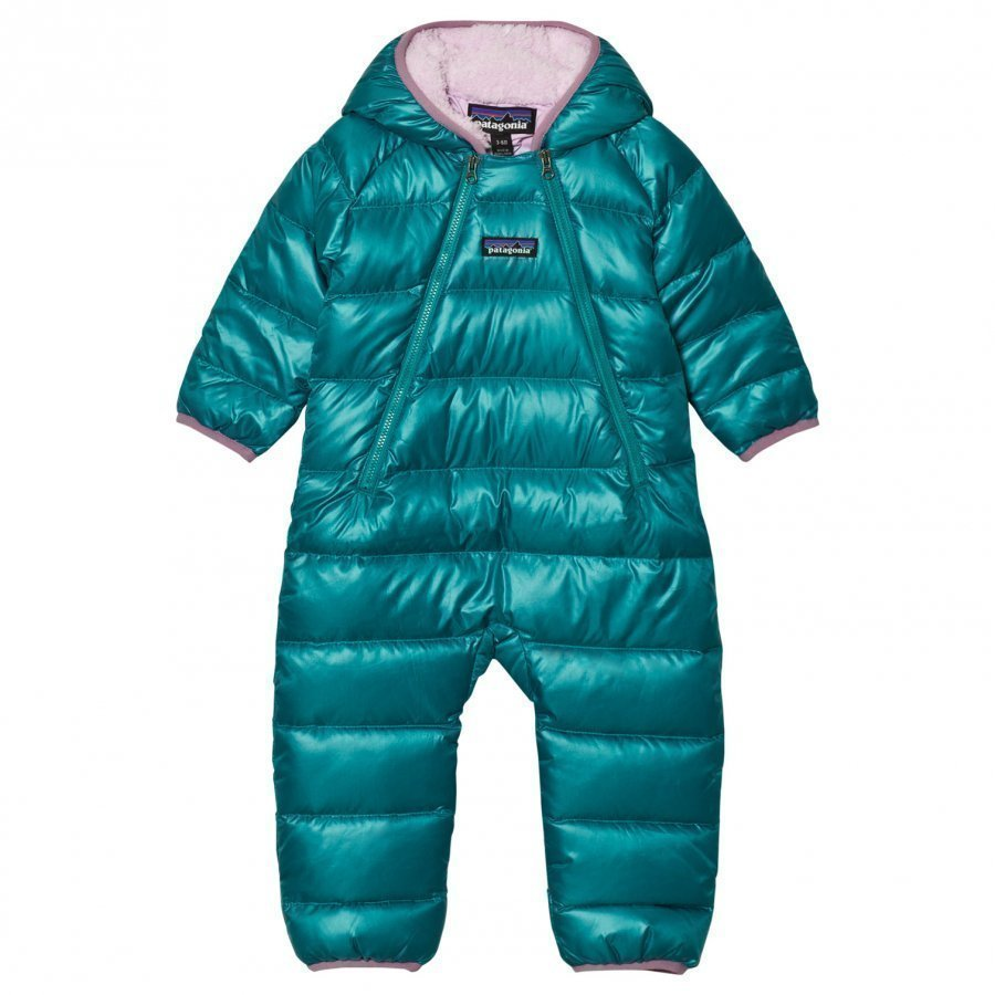 Patagonia Infant Hi-Loft Down Sweater Bunting Coverall Elwha Blue Sadehaalari