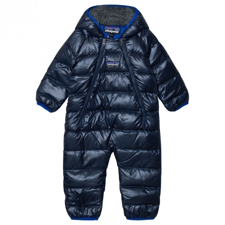 Patagonia Infant Hi-Loft Down Sweater Bunting Coverall Navy Blue Sadehaalari
