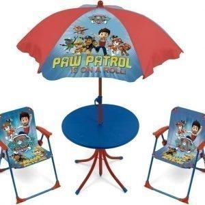 Paw Patrol Pöytä & Päivänvarjo & 2 tuolia Is on a roll