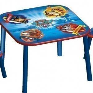 Paw Patrol Pöytä ja kaksi tuolia
