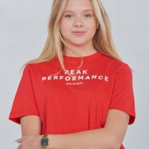 Peak Performance Jr Orig T T-Paita Punainen