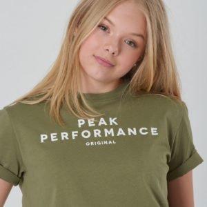 Peak Performance Jr Orig T T-Paita Vihreä
