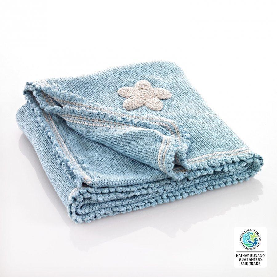 Pebble Blue Motif Blanket Huopa