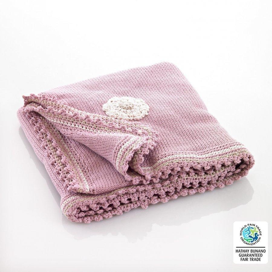 Pebble Pink Motif Blanket Huopa