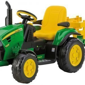 Peg Perego John Deere Ground Force Akkutraktori + Kärry