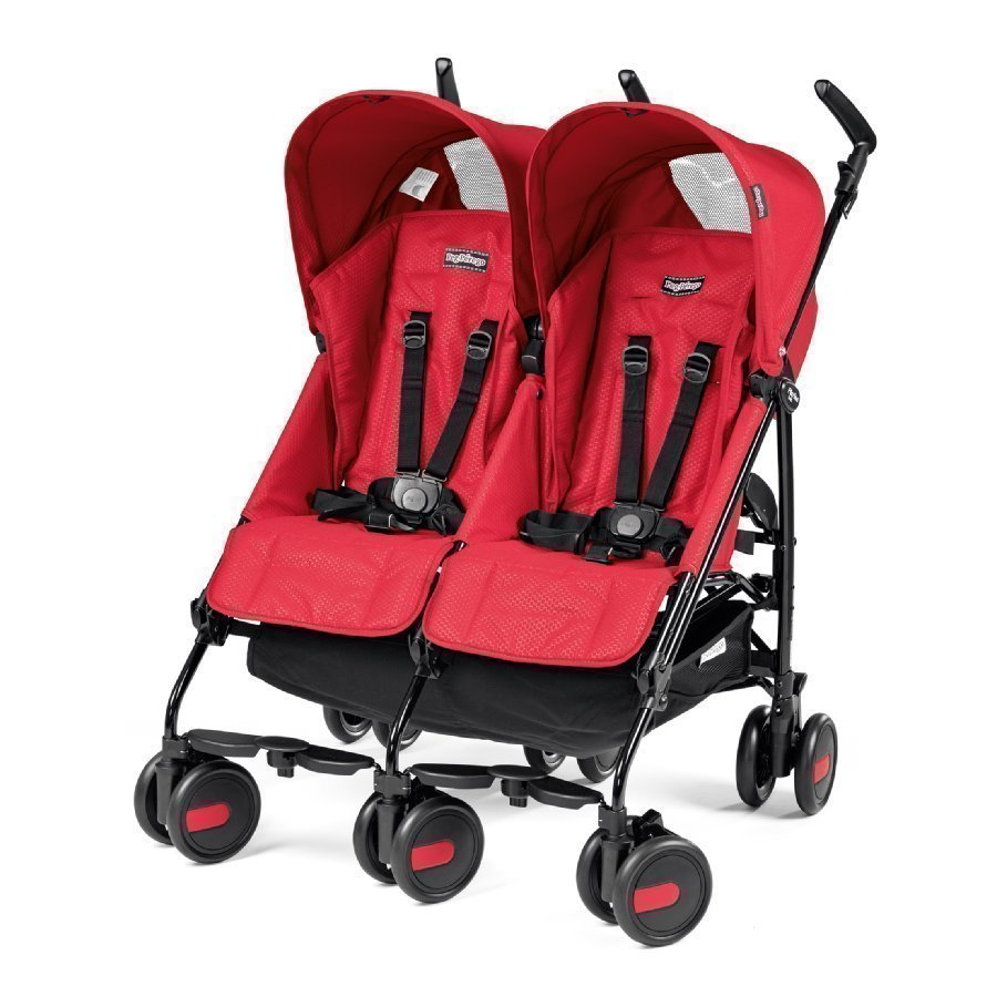 Peg Perego Pliko Mini Twin Mod Red Kaksosrattaat