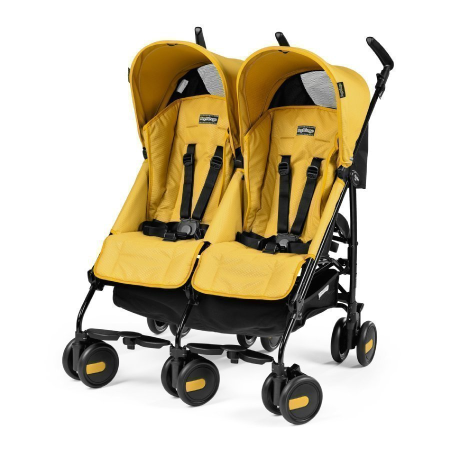 Peg Perego Pliko Mini Twin Mod Yellow Kaksosrattaat