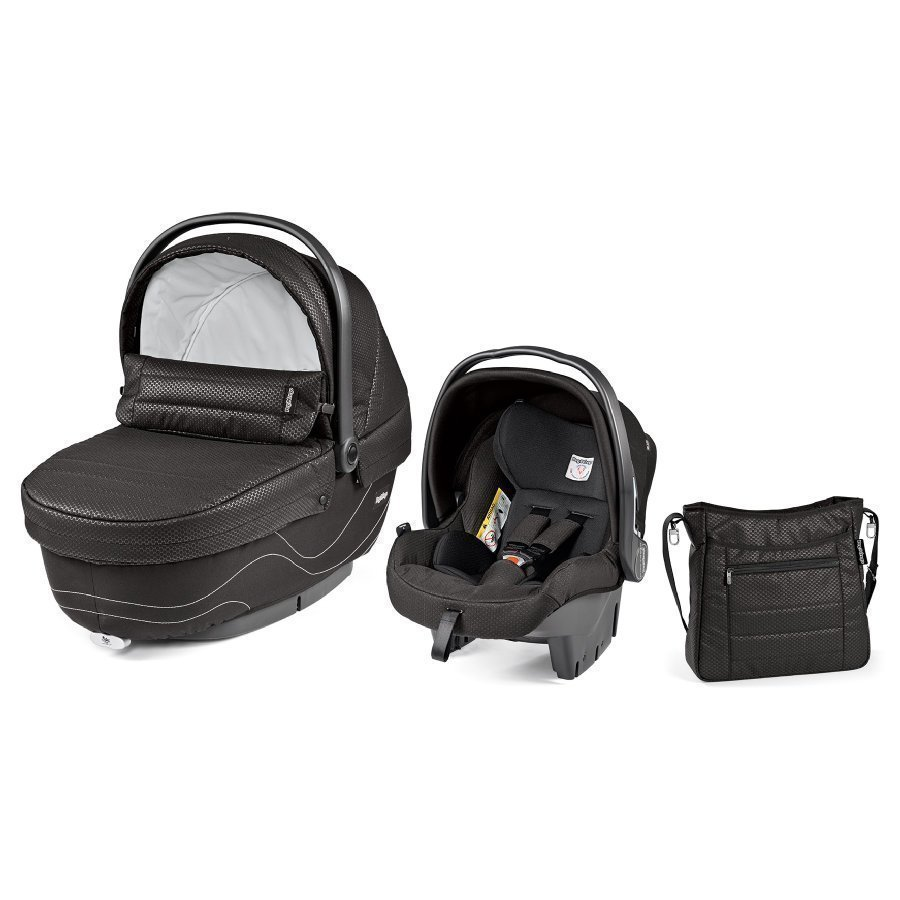 Peg Perego Set Xl Vaunukoppa Turvakaukalo Hoitolaukku Bloom Black