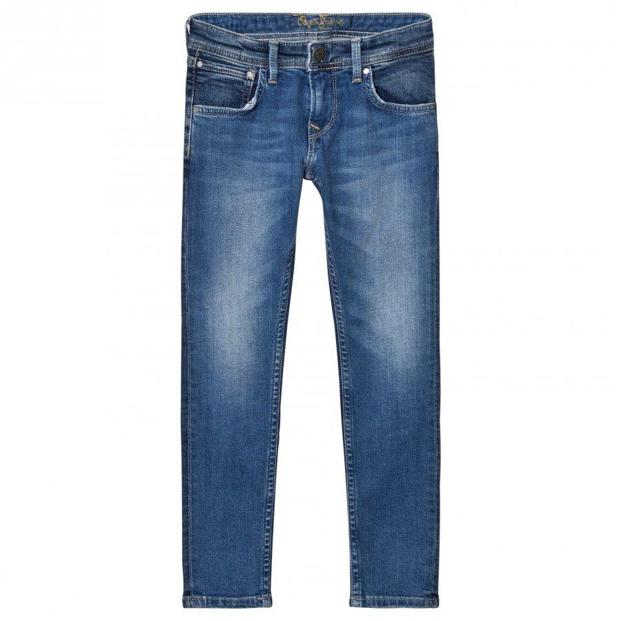 Pepe Jeans Blue Mid Wash Finlay Skinny Jeans Farkut