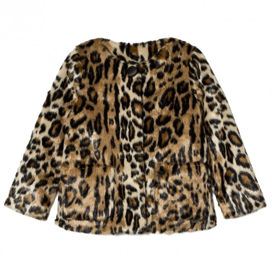 Pepe Jeans Leopard Print Faux Fur Jacket Turkis
