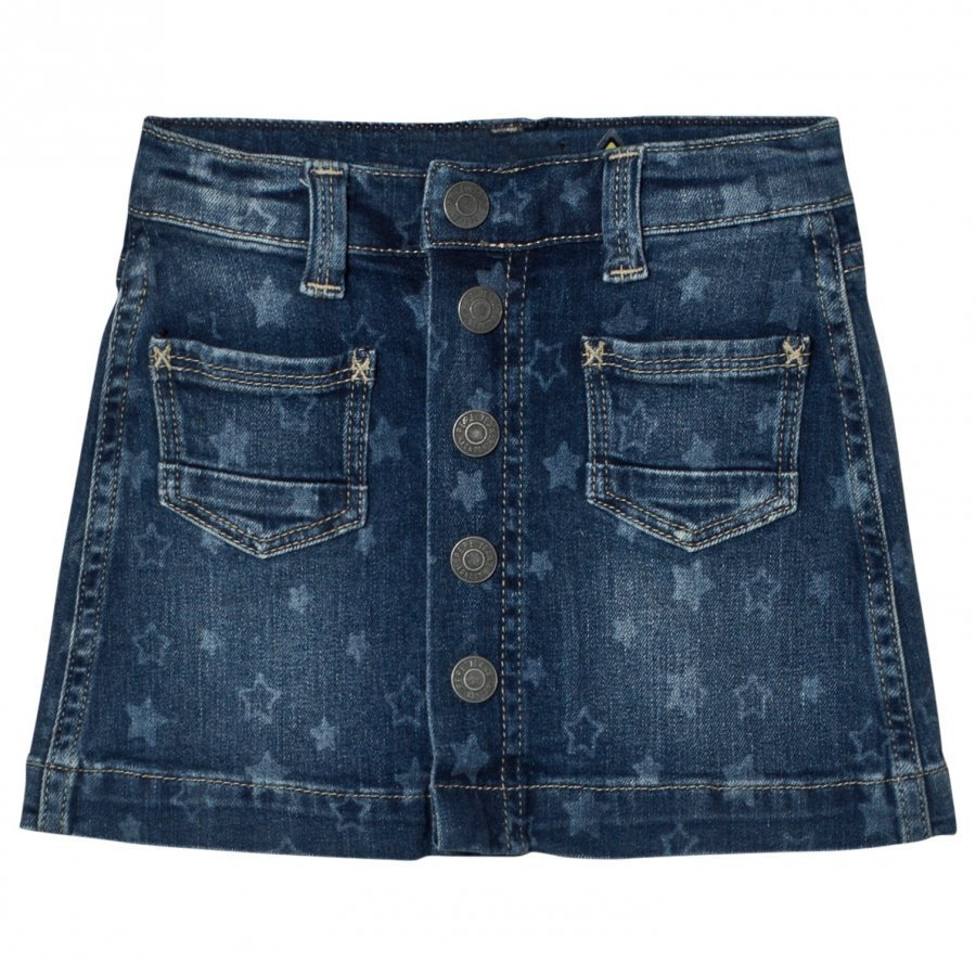 Pepe Jeans Star Print Button Skirt Medium Farkkuhame