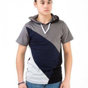 Perrelli Street Wear Ganton Ss Hood Tee Huppari Kirjava