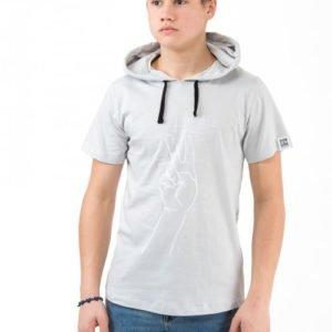 Perrelli Street Wear Lockhart Ss Hood Tee Huppari Harmaa