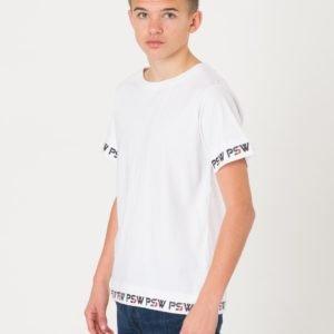 Perrelli Street Wear Scott Ss Tee T-Paita Valkoinen