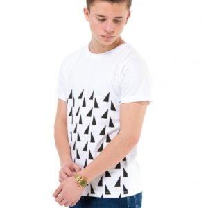 Perrelli Street Wear Walton Ss Tee T-Paita Valkoinen