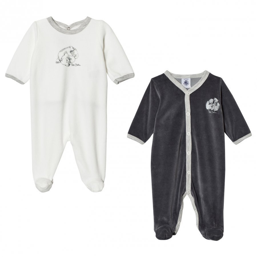 Petit Bateau 2-Pack Footed Baby Body